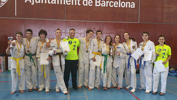 club taekwondo granollers pleno campeonato junior